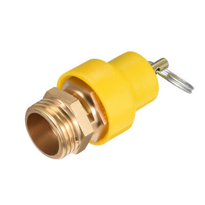 Air Compressor Fittings Pressure Relief Valve 1/2 PT Thread 1.22Mpa Yellow