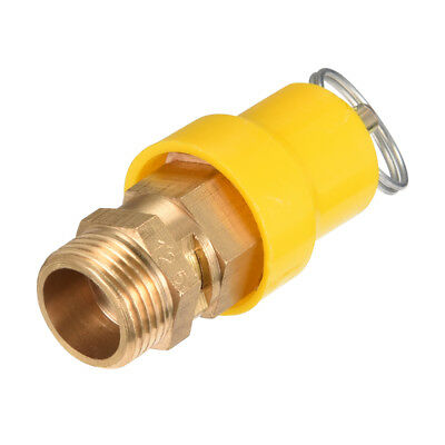 Air Compressor Fittings Pressure Relief Valve 3/8 PT Thread 1.22Mpa Yellow