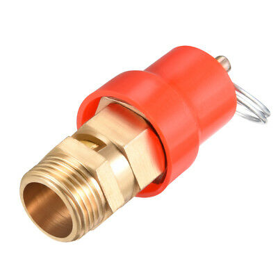 Air Compressor Fittings Pressure Relief Valve 3/8 PT Thread 0.78Mpa Red