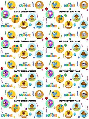Hey Duggee Personalised Birthday Wrapping Paper ADD NAME/S CHOOSE BACKGROUND