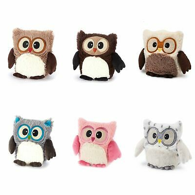 Warmies Microwavable Hooty Owl Plush Lavender Scented Soft Toy, Various Colours