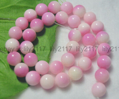 """Natural 6/8/10/12mm pink Multi-Color Kunzite Round Gems Loose Beads 15"""" strand"""