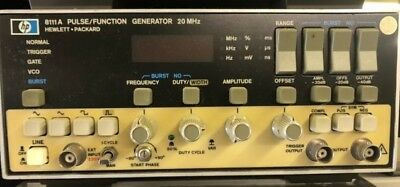 Hp  Agilent Keysight 8111A Pulse / Function Generator 20Mhz