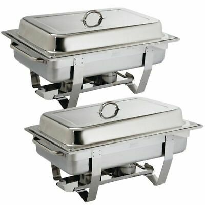 2 x Olympia Cns pro Stainless Steel Chafing Dish Incl. 2 x 1/1 Gn Food Warmer