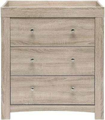 East Coast FONTANA DRESSER - WASHED/WOOD Baby Child Nursery Furniture BN