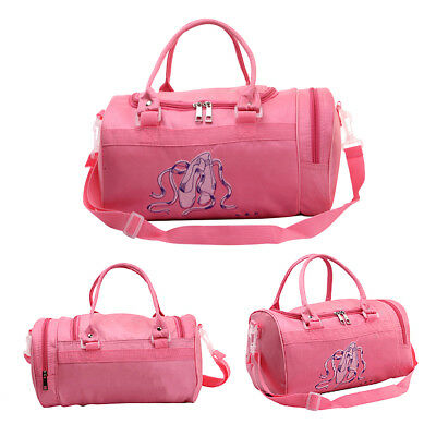 Pink Girl Kids Gymnastics Dance Ballet Swim Duffle Bag Backpack Embroidered  Tote 5fa3e21bf7682