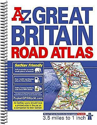 Great Britain 3.5m Road Atlas, Geographers a-Z Map Company, Used; Good Book