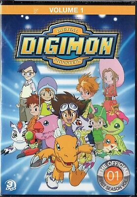 Digimon: Digital Monsters - The Offical First Season, Vol.1 (DVD 3-Disc) LAST 1