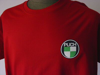 PUCH ★ Heavy T-Shirt  NEU * Motorrad * Oldtimer * tango red * Moped * Motorcycle