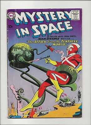 Mystery in Space 60 VG- 3.5 Early Adam Strange 1960