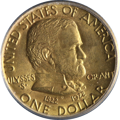 1922 Grant No Star Gold $1 PCGS MS65 Blazing Gem Superb Eye Appeal