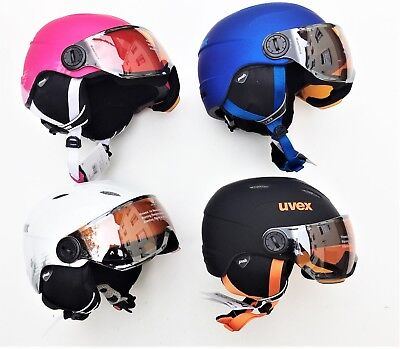 Kinder Skihelm Uvex junior visor pro, Kinderhelm mit Visier
