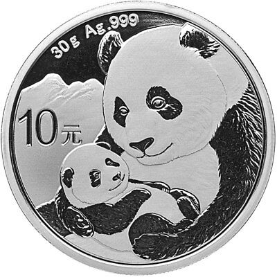 2019 China 30 g Silver Panda ¥10 Coin GEM BU PRESALE SKU55881