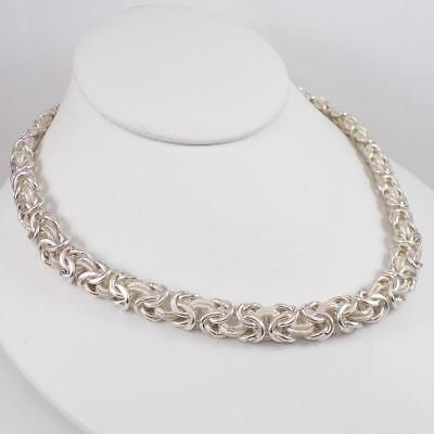 3.1mm Heavy Solid Square Links Real 925 Sterling Silver Plain Box Chain Necklace