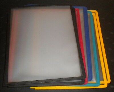 New (10) Sherpa Polypropylene Display Panel Only Assorted Colors Letter Size @