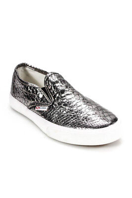 ffb01aef4f0c Superga Womens Sneakers Size 36 6 Silver Animal Print Design Slide On