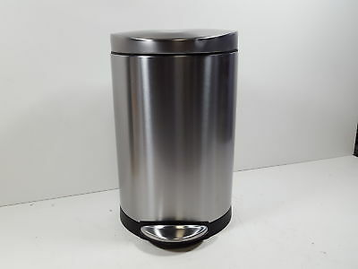 simplehuman 10 Liter / 2.3 Gallon trash Can, Brushed Stainless Steel CW1833