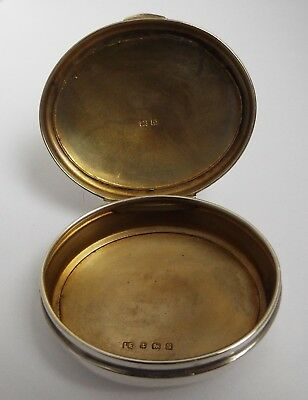 Lovely Clean English Antique 1917 Solid Sterling Silver Snuff Or Tobacco Box