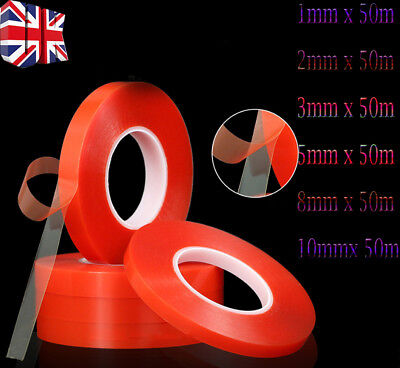 50M x Strong Double-sided Clear Transparent Acrylic Foam Adhesive Tape G
