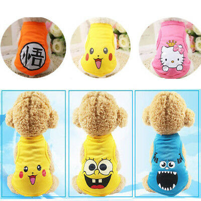 NEW Small Pet Dog Clothes Fashion Costume Vest Puppy Cat T-Shirt Summer Apparel