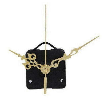 Clock Quartz Movement Mechanism DIY Repair Parts Kit With Gold Hour Minute Hand