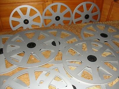 Elmo  1200 feet / 360 m Super 8 Aluminum Reel Excellent