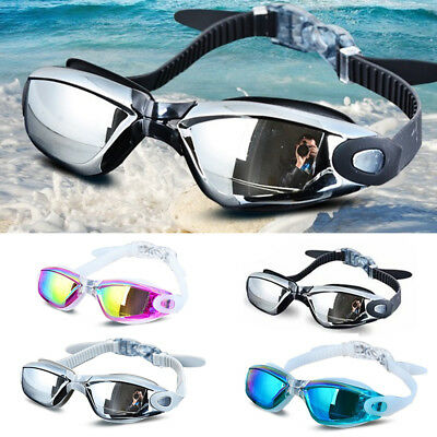 Swimming Goggles Mirrored Glasses Anti-fog UV Protection Silicone  Eye Protect