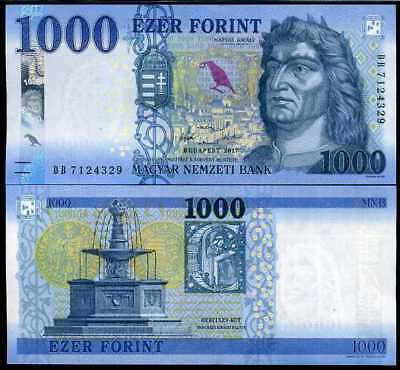 Hungary 1000 1,000 Forint 2017 / 2018 P New Color Security Unc