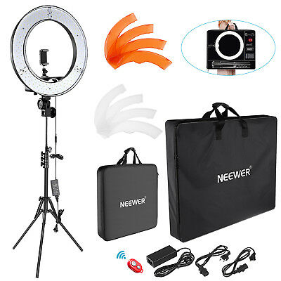 "Neewer 18"" 55W Dimmable LED Ring Light Kit with Enlarged Carrying Bag for Kit"