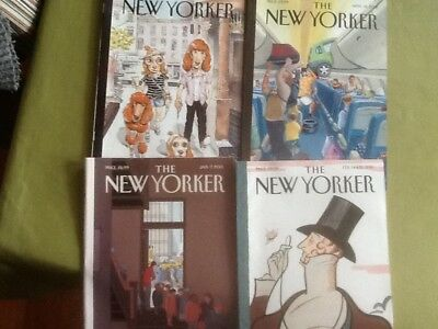 Collectable.    4 copies of The New Yorker magazine.
