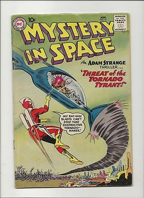 Mystery in Space 61 VG 4.0 Early Adam Strange 1960