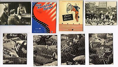 "WW2 - Lot de 4 photos recto-verso ""Les  Américains en Angleterre"""