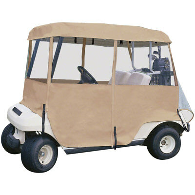 Classic Accessories Fairway Golf Cart Enclosure Deluxe 4-Sided Beige
