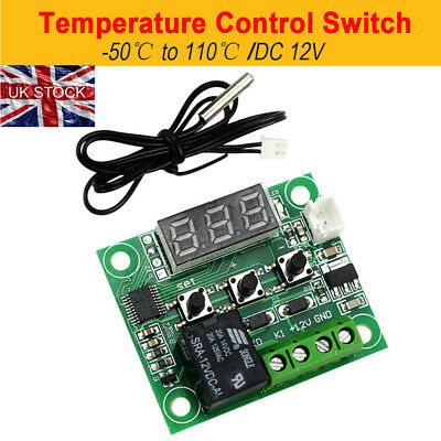12V Digital Heat Cool Temp Thermostat Temperature Control Switch Relay
