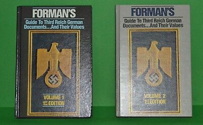 Forman's Guide to Third Reich German Documents …and their Values Volumes 1 & 2