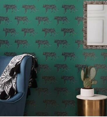Panther Bluff Green Peel & Stick Removable Wallpaper Opalhouse Lot x 2
