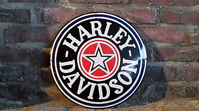 Harley Davidson Star Werkstatt Emailleschild Softail Fat Boy Usa Chopper Bobber