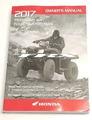 2017 honda foreman 500 owners manual