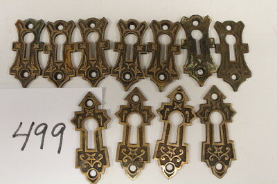 #499 – Lot of 11 Key Hole Covers / Escutcheons, 19th C.