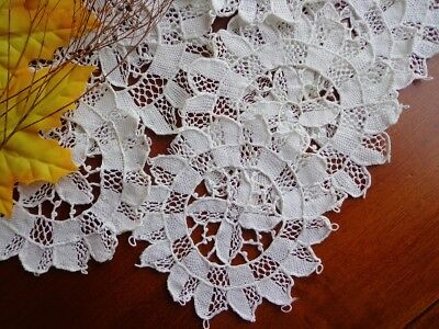 SET - 9 Antique Italian Handmade Point Venise Lace - Punto Venezia Coasters 5""""