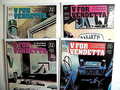 V For Vendetta # 2 and 4 thru 10 - Lot of 8 Books - (NM+)