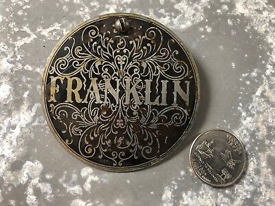 Vintage Franklin Treadle sewing machine cover plate