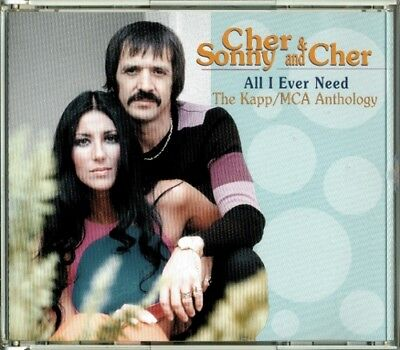 Cher & Sonny and Cher - All I Ever Need The Kapp/MCA Anthology RARE OOP 2 CD Box