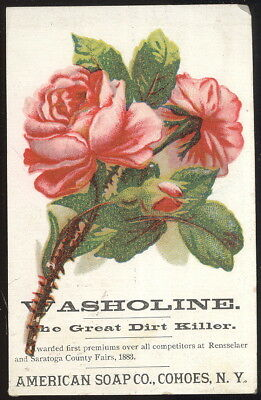 Scarce 1880S Trade Card, Washoline, American Soap Co. Cohoes, N.y.