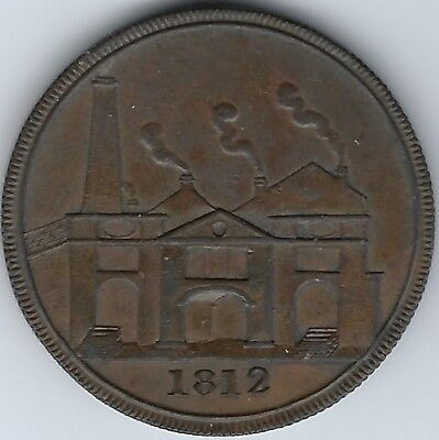 GREAT BRITAIN Yorkshire Hull Lead Works 1812 Penny Token Withers #752 Inv 3792