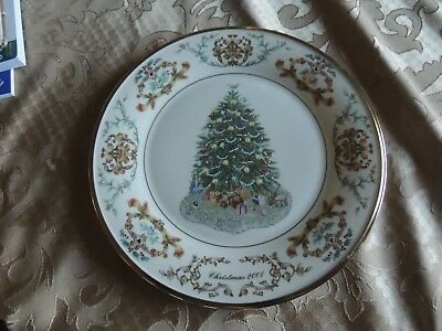 Lenox CHRISTMAS TREES AROUND THE WORLD PLATE - IRELAND NUMBERED