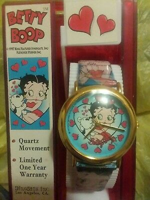 Betty Boop - Vintage Watch - 1997 - Dingbats Inc - With Stand - Rare