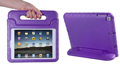 Kids Shock Proof EVA Foam Handle Safe Case Cover Stand For iPad Air 1 &2 ~PURPLE