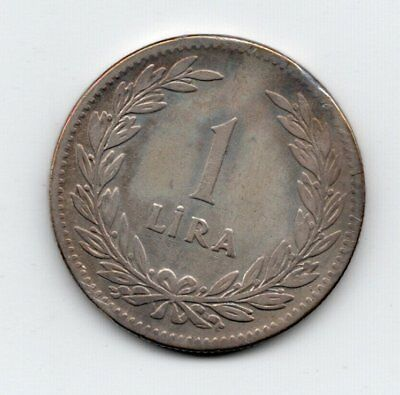 Turkey Silver 1947 Lira-Lot F1