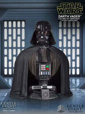 Gentle Giant Star Wars 40th Anniversary Darth Vader 2017 SDCC Exclusive Bust New